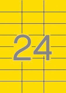 ETIQUETA  AMARILLA  APLI 70X37MM 24E 20H