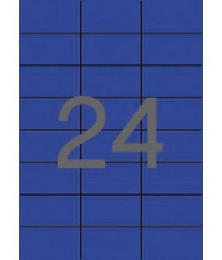 ETIQUETA AZUL APLI 70X37MM 24E 20H