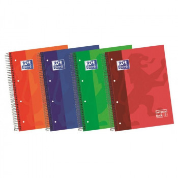 CUADERNO OXFORD MICROPERFORADO 4 TAPA EXTRADURA COLORES SURTIDOS