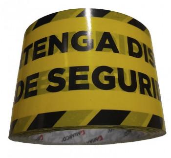 ROLLO CINTA DE SEGURIDAD MANTENGA LA DISTANCIA 72X66M