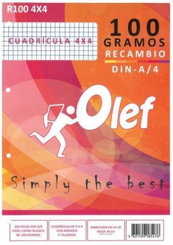 RECAMBIO OLEF A4 100 HOJAS 100 GR