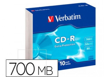 CD-R VERBATIM EXTRA PROTECTION 700 MB 80 MIN. 52X
