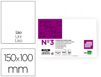 FICHA LIDERPAPEL LISA Nº3 100x150 100U
