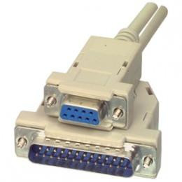 CABLE SERIE NULL MODEM DB9H/DB25M 2M
