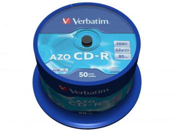 BOBINA CD-R VEBATIM SUPERAZO 52X 700M