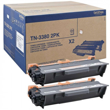 TONER BROTHER TN-3380 PACK 2UND ORIGINAL DCP8250DN/MFC8510DN/MFC8520 16000 PAG