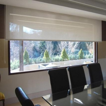CONJUNTO CORTINA ENROLLABLE TEJIDO SCREEN 4,1 CON 5% APER. 200X250