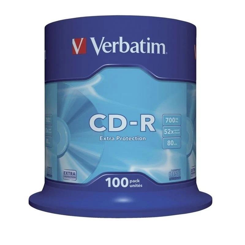 TARRINA CD-R VERBATIM 700MB 52X 100 U.