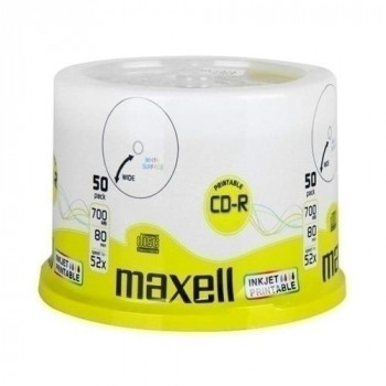 CD-R MAXWELL IMPRIMIBLE 700MB 80MIN 52X (50UND)