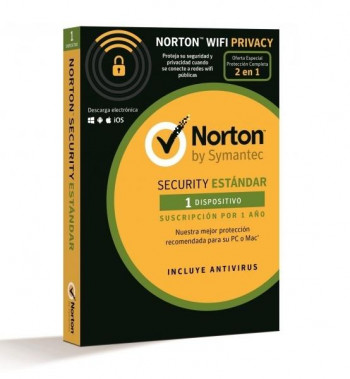 ANTIVIRUS NORTON SECURITY STANDARD+WIFI PRIVACY 1U