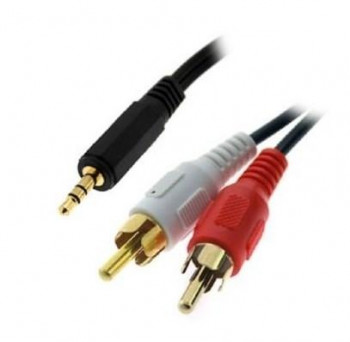 CABLE 3GO AUDIO JACK 3,5 M - 2XRCA M 2M