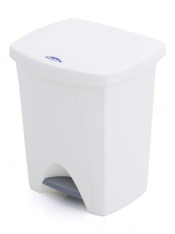 CUBO PEDAL PLASTIKEN NATURE BLANCO 25L