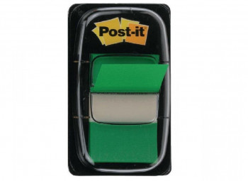 BANDERITAS ADHESIVAS POST-IT 25,4X43,2 COLOR VERDE