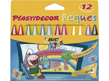 LAPICES CERA PLASTIDECOR PEQUES 12L