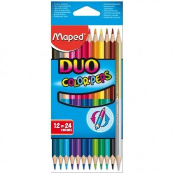 LAPICES MAPED COLORES COLOR'PEP DUO