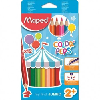 LAPICES COLORES MY FIRST JUMBO COLOR'PEP FSC 12 UND