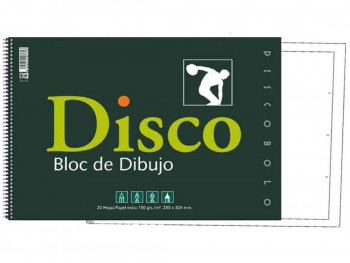 BLOC DIBUJO DISCO CON RECUADRO 170 R