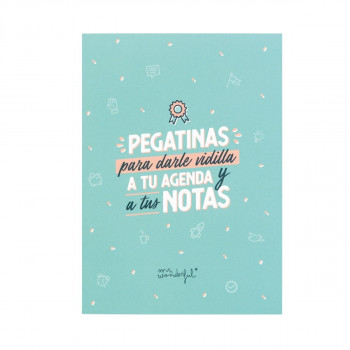LIBRETA DE PEGATINAS PARA DARLE VIDILLA MR WONDERFUL