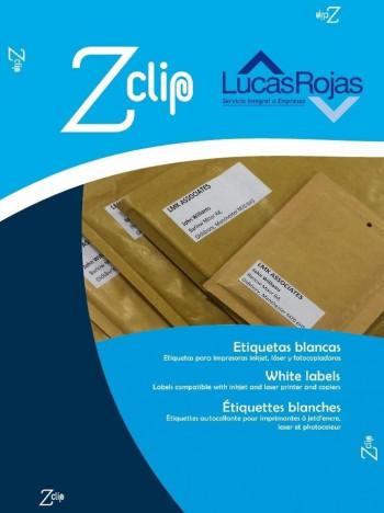 ETIQUETAS MULTIFUNCION ZCLIP 38,1x21,2MM 65E 100UND