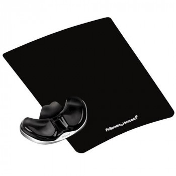 REPOSAMUÑECAS FELLOWES GEL ERGONOMICO NEGRO 9180701