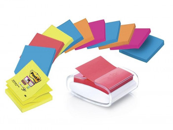 NOTAS QUITA Y PON POST-IT PACK12 + DISPENSADOR