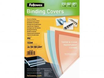 PORTADAS PVC FELLOWES A4 180 MICRAS ROJO (100 UND)