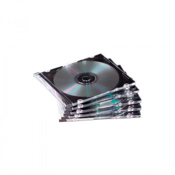 ESTUCHE FELLOWES PARA CD/DVD SLIM CASE. PACK 25
