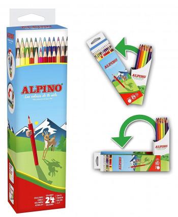 LAPICES ALPINO FLIPBOX 24L WF AL010024