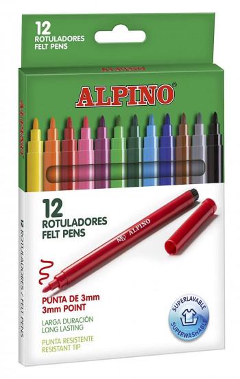 ESTUCHE 12 ROTULADORES STANDARD ALPINO