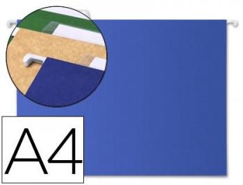 CARPETAS COLGANTES A4 VISION SUPERIOR AZUL LIDERPAPEL 25 UND