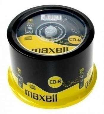 CD-R MAXELL 700MB 80 MIN 52X (25-50UND)