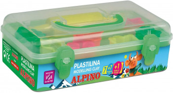 KIT PLASTILINA 7 COLORES+ 7 HERRAMIENTAS+ RODILLO