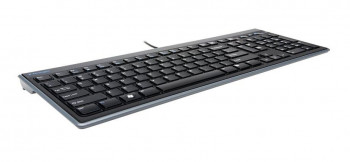 TECLADO ADVANCE FULL-SIZE SLIM KEYBOARD BLACK KENSINTON