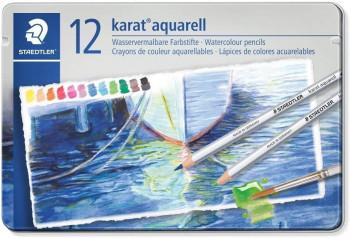 LAPICES ACUARELABLES 125 KARAT ESTUCHE DE METAL