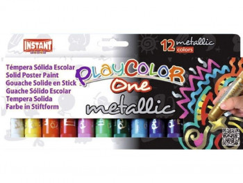 PLAYCOLOR TEMPERA SOLIDA ONE METALLIC 10G