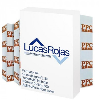 PAPEL LUCAS ROJAS PPC BROWN  A4  BLANCO CALIDAD ALTA