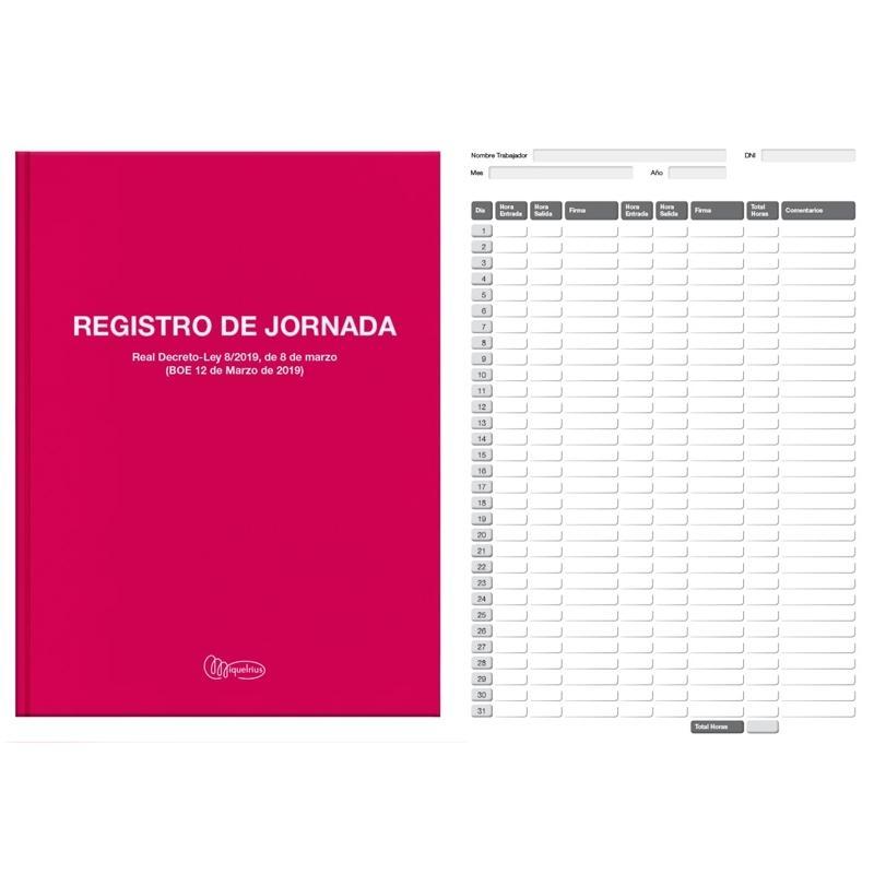 LIBRO Fº 40 REGISTRO HORARIO LABORAL MR