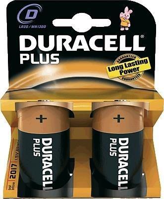 PILAS DURACELL PLUS POWER D LR20 2 UNIDADES