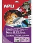 ETIQUETA CD-DVD DORSO OPACO ADHESIVO PERMANENTE 50UND
