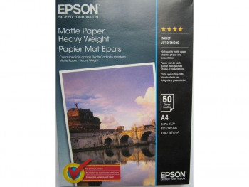 PAPEL FOTOGRAFICO EPSON INKJET MATE 167 G. FORMATO A4 PAQUETE 50 HOJAS REF. C13S041256