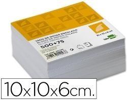 TACO DE NOTAS 10x10 BLANCO ENCOLADO LIDERPAPEL
