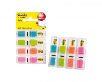PACK POST-IT INDEX MEDIANOS 11,9X43,1 COLORES VIVOS