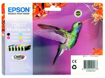 CARTUCHO DE TINTA EPSON PACK 4 COLORES+RF T0807 C13T08074021