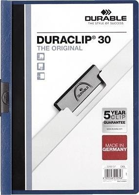 DOSSIER CLIP DURABLE DURACLIP A4 PVC PINZA METALICA 60HOJAS VERDE 25UND