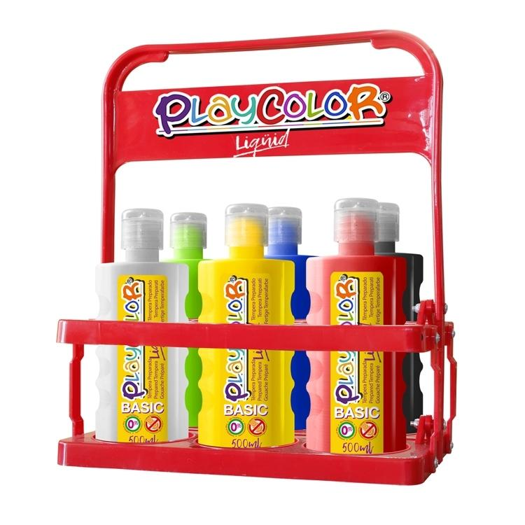 PLAYCOLOR LIQÜID BASIC 500ML BASKET