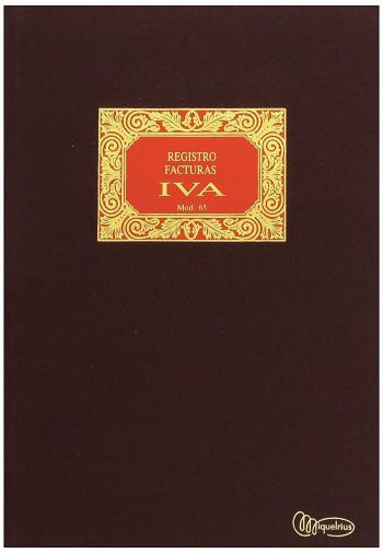LIBRO DE FACTURAS EMITIDAS - IVA MIQUELRIUS Nº 64 NATURAL