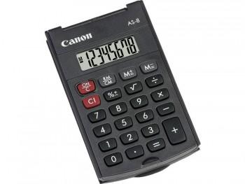 CALCULADORA CANON  DE BOLSILLO AS-8 CON 8 DIGITOS.CON TAPA DURA. ALIMENTACION 1PILA INCLUIDA 4598B001AA