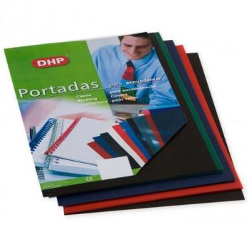 PORTADA PVC DHP A4 NEGRO (100 UND)