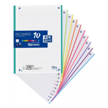 RECAMBIO OXFORD A4 SCHOOL COLOR 10 90 GR