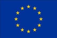 BANDERA UNION EUROPEA EXTERIOR CON ESCUDO 130X200CM